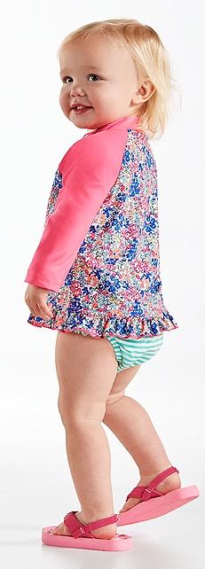 Baby Girl Ruffle Swim Shirt Outfit