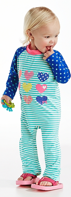 Baby Girl Striped One-Piece Swimsuit Outfit