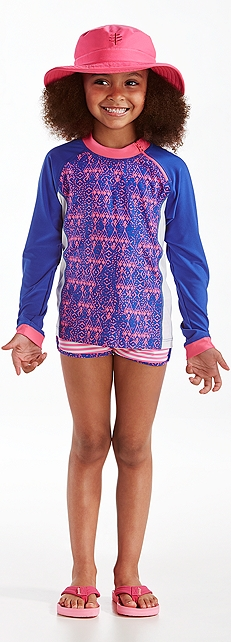 Zippy Rash Guard & Beach Shorts Outfit at Coolibar
