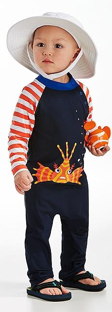 Baby Splashy Bucket & Beach One-Piece Outfit