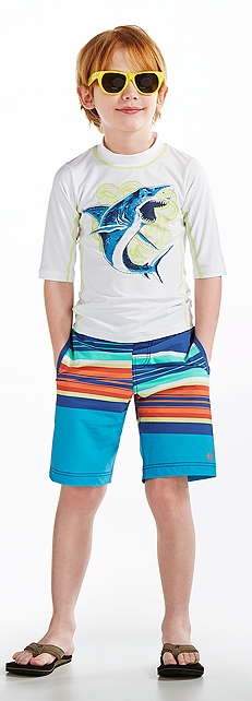 S/S Surf Shirt & Island Swim Trunks Outfit