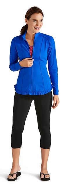 Swim Jacket & Swim Capris Outfit
