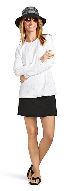 Crochet Swim Top & Skirt Outfit at Coolibar