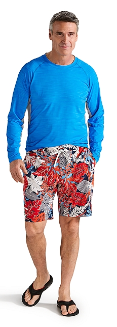 Ultimate Rash Guard & Island Swim Trunks Outfit at Coolibar