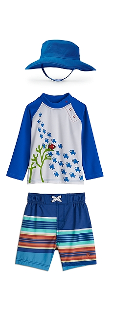 Baby Rash Guard & Island Swim Trunks Outfit at Coolibar