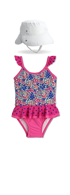 Ruffle One-Piece Swimsuit Outfit at Coolibar