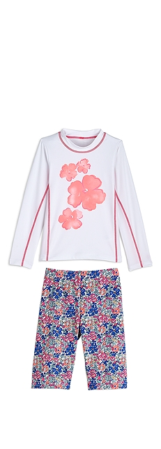 L/S Surf Shirt & Swim Shorts Outfit