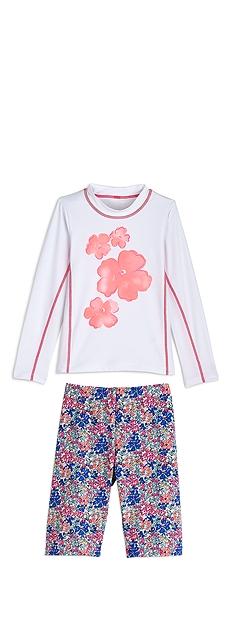 L/S Surf Shirt & Swim Shorts Outfit at Coolibar