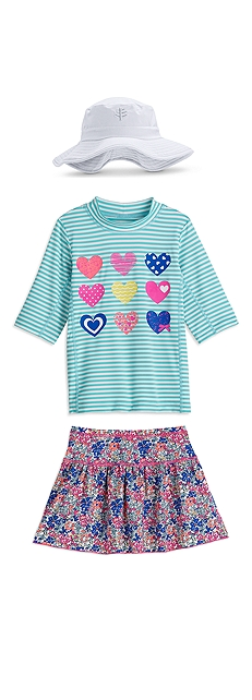 Surf Shirt & Swim Skirt Outfit at Coolibar