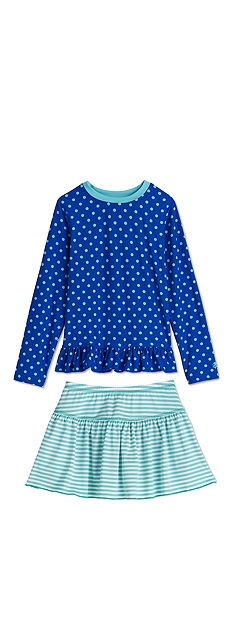Ruffle Swim Shirt & Swim Skirt Outfit at Coolibar