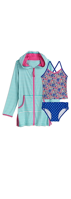Tankini Swimsuit & Cover-Up Outfit at Coolibar