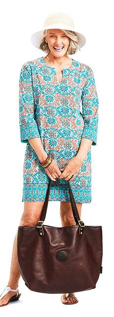 St. Lucia Sun Hat & Oceanside Tunic Dress Outfit at Coolibar