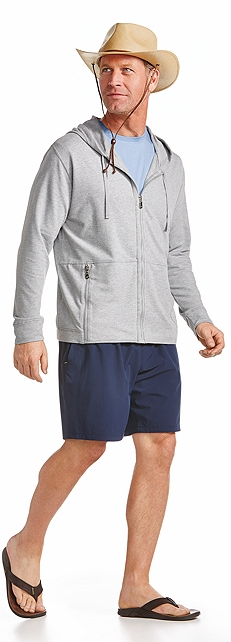 Zip Hoodie & Swimming Shorts Outfit at Coolibar