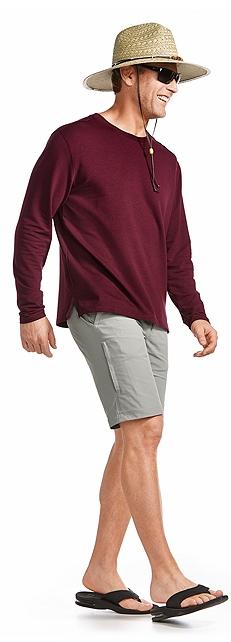 Straw Beach Hat & Crew Neck Sweatshirt Outfit