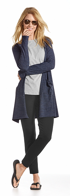Merino Wool Open Cardigan Outfit at Coolibar