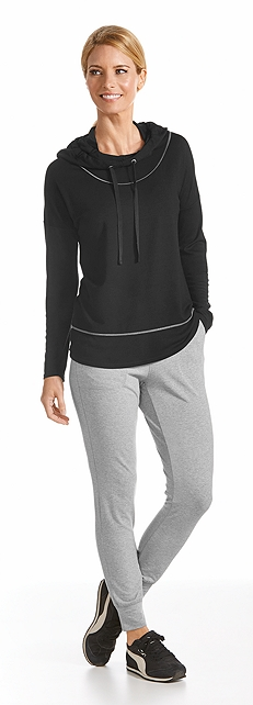 Merino Wool Hoodie & Weekend Pant Outfit at Coolibar