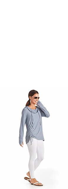 Cowl Neck Pullover Outfit at Coolibar