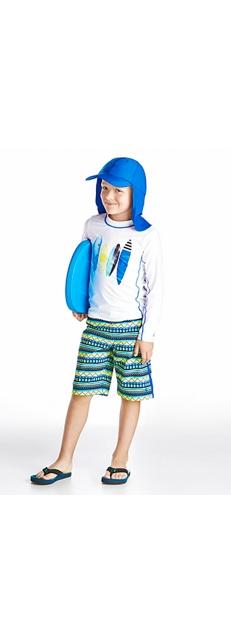 L/S Surf Shirt & Surf Swim Trunks Outfit