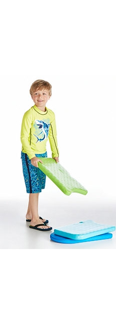 Long Sleeve Surf Shirt and Surf Swim Trunks Outfit