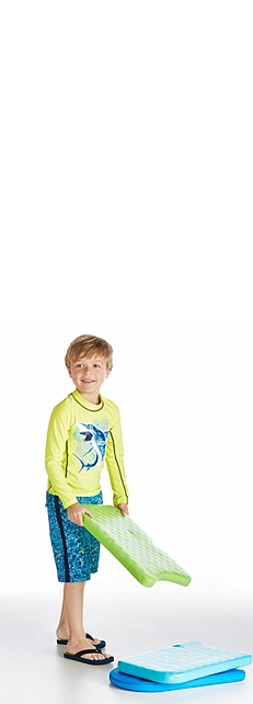 Long Sleeve Surf Shirt and Surf Swim Trunks Outfit at Coolibar