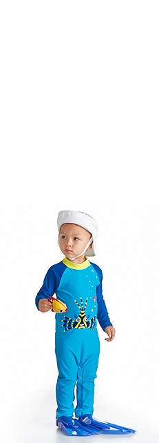 Baby Sun Bucket Hat & Beach One Piece Baby Outfit at Coolibar