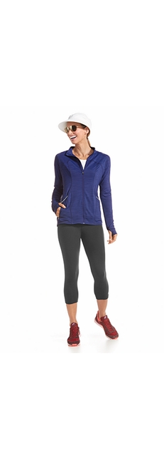 Workout Jacket & Yoga Capris Outfit