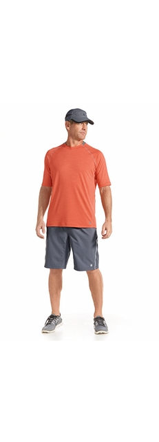 S/S Workout Shirt & Sport Shorts Outfit