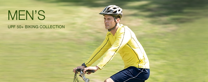 Men's Sun Protective Swimwear and Clothing - The UPF 50+ Protection for Men's Biking Activewear