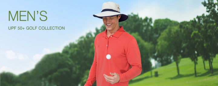 Men's Sun Protective Clothing - UPF 50+ Protection for Serious Male Golf Athletes