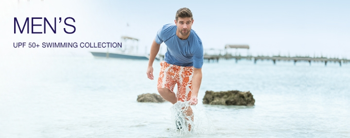 Men's Sun Protective Swimwear and Clothing - The UPF 50+ Protection for Men's Swimwear