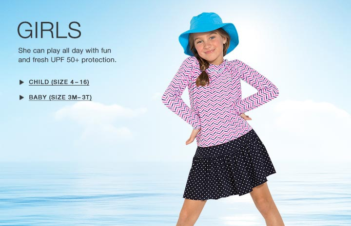 Girl's Sun Protective Swimwear and Clothing - The UPF 50+ Protection for Baby Boys, Toddlers, Kids and Teenagers