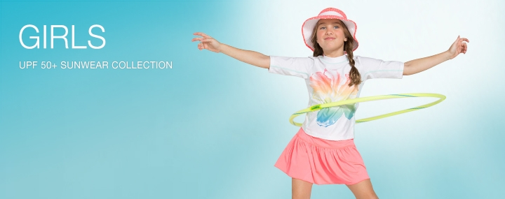 Girl's Sun Protective Swimwear and Clothing - The UPF 50+ Protection for Baby Girls, Toddlers, Kids and Teenagers
