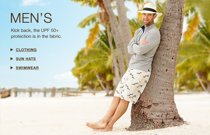 Men's UPF 50+ Sun Protection: Clothing, Sun Hats, Swimwear