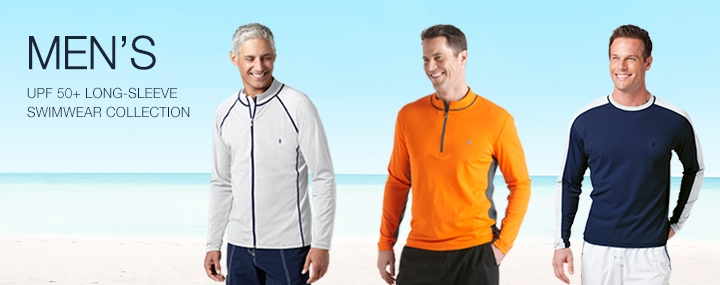 Men's Sun Protective Swimwear and Clothing - The UPF 50+ Sun Protection for Men's Swimming Shirts