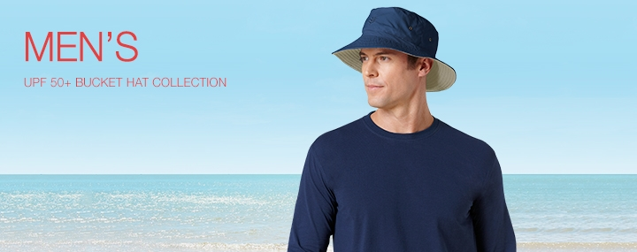 Men's Sun Protective Swimwear and Clothing - The UPF 50+ Protection for Men's Bucket Hats