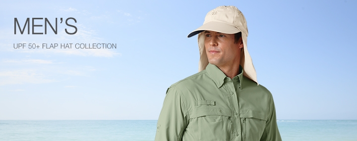Men's Sun Protective Swimwear and Clothing - The UPF 50+ Protection for Men's Flap Hats