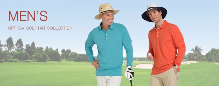 Men's Sun Protective Swimwear and Clothing - The UPF 50+ Protection for Men's Golf Hats