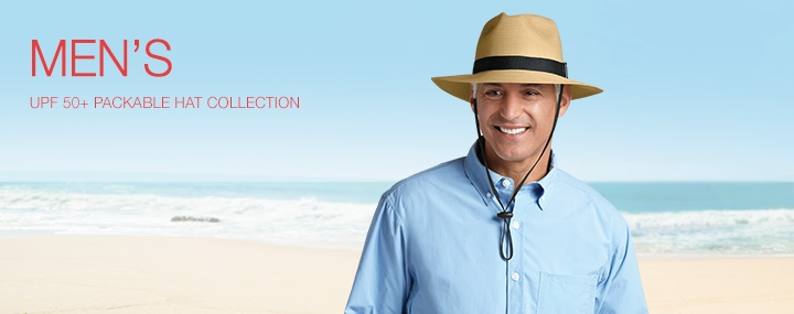 Men's Sun Protective Swimwear and Clothing - The UPF 50+ Protection for Men's Packable Sun Hats