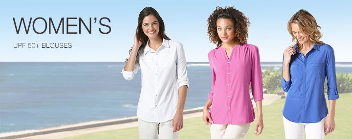 Women's Sun Protective Clothing Long-Sleeve Blouses and Shirts - The UPF 50+ Protection for Women