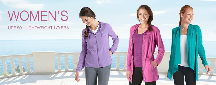 Women's Sun Protective Clothing Layers, Wraps, Jackets - The UPF 50+ Protection for Women