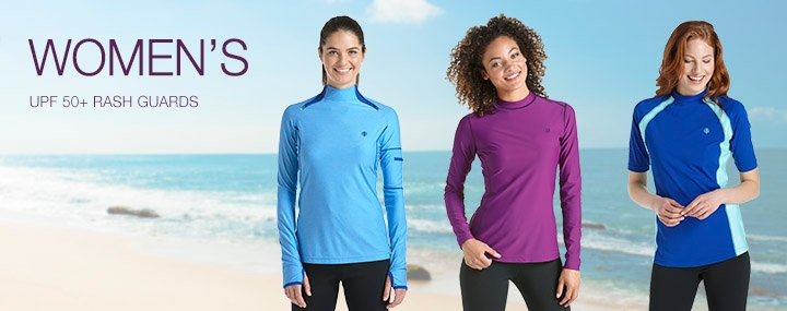 Women's Sun Protective Rash Guards, Swimwear, and Swim Shirts - The UPF 50+ Protection for Women