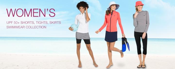 Women's Sun Protective Swimwear Swim Tights, Shorts and Swim Skirts - The UPF 50+ Protection for Women
