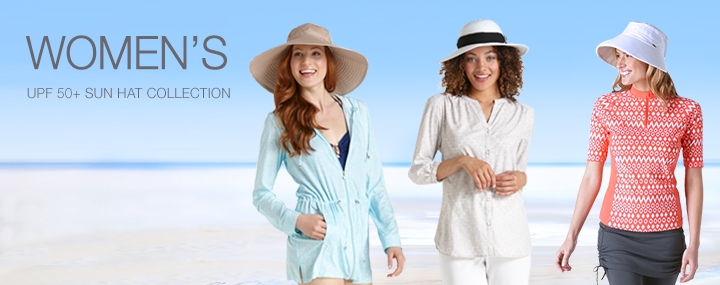Women's Sun Protective Hats, Swimwear and Clothing - Sun Hats with UPF 50+ Sun Protection