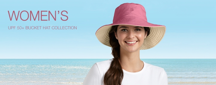 Women's Sun Protective Hats, Swimwear and Clothing - Bucket Hats with UPF 50+ Sun Protection