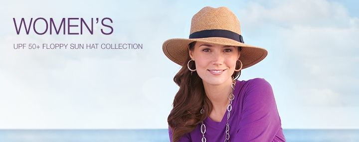 Women's Sun Protective Hats, Swimwear and Clothing - Floppy Sun Hats with UPF 50+ Sun Protection