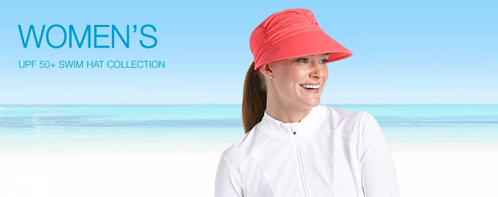 Women's Sun Protective Hats, Swimwear and Clothing - Swim Caps, Swim Hats with UPF 50+ Sun Protection