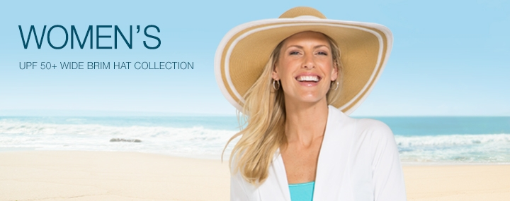 Women's Sun Protective Hats, Swimwear and Clothing - Wide Brim Sun Hats with UPF 50+ Sun Protection