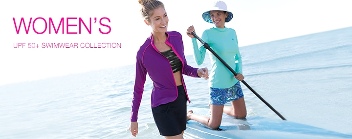 Women's Sun Protective Swimwear, Rash Guards, Swim Tights & Skirts - The UPF 50+ Protection for Women