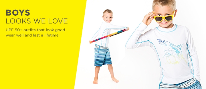 UPF 50+ Boy's Sun Protective Outfits