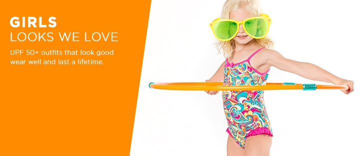UPF 50+ Girl's Sun Protective Outfits